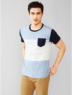 Essential colorblock t-shirt Roupas Masculinas 5657b3169113a