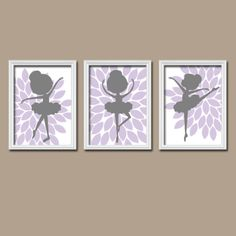 BALLERINA Purple Lilac Grey Personalized Colors by trmDesign, $28.00