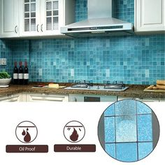 Buy Waterproof Anti-oil Stain Kitchen Bathroom Decoration Wall Tiles Sticker at Wish - Shopping Made Fun Wall Stickers Tiles, Tile Decals, Wall Tiles, Oil Stains, Bedroom Wall, Kitchen Decor, Living Room, Bathroom, Outdoor Decor