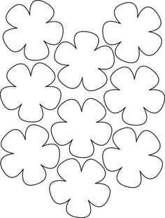 leis flower template Colouring