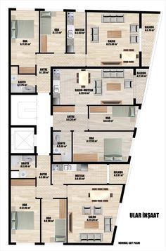 Building Layout, Building Plans, Apartment Plans, Apartment Design, Residential Building Plan, 2 Bedroom House Plans, Apartment Complexes, Luxury House Plans, Architecture Plan