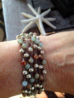 SALE 6x Wrap Bohemian wrap crochet jewelry Boho di jewlsoflove