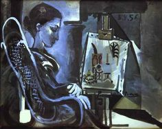 1896 Pablo Picasso (Spanish artist, Portrait of the Artist's Mother. Pablo Picasso, one of the dominant & most influential . Kunst Picasso, Art Picasso, Picasso Blue, Picasso Paintings, Spanish Painters, Spanish Artists, Picasso Rose Period, Cubist Movement, Georges Braque