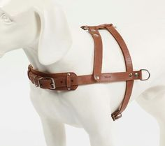 Leather Dog Harness Pulling Harnesses Medium Black by CollarDirect