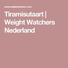 Tiramisutaart | Weight Watchers Nederland
