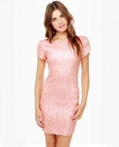 Lovely Pink Sequin Dress. http://www.vudress.com/lovely-pink-sequin-dress-p-465.html