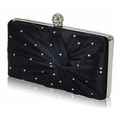 Gorgeous Navy Blue Boxed Diamante Bridal Party Clutch Bag