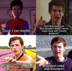 Marvel Funny, Marvel Memes, Marvel Comics, First Spiderman, Spiderman Gif, Comic Book Collection, Stupid Funny Memes, Hilarious, Really Funny