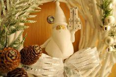 Minha guirlanda de Natal - Christmas Wreath - White Christmas Decor