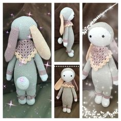 RITA the rabbit made by Mélissa R. / crochet pattern by lalylala