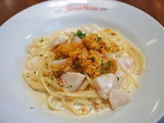 scallop and uni pasta from Porco Rosso, ofunato, japan
