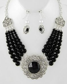 Romantic Cowgirl Necklace Set, $18.00