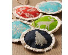 Cozy Homemade Fabric Ornaments | AllFreeHolidayCrafts.com