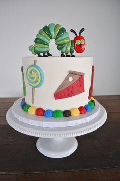 Hungry Hungry Caterpillar Birthday Cake Sugar Bee Sweets Bakery www.sugarbeesweets.com Wedding Cake Bakery, Wedding Cakes, Fort Worth Wedding, Hungry Caterpillar, Custom Cakes, Party Cakes, A Boutique, Bee, Birthday Cake