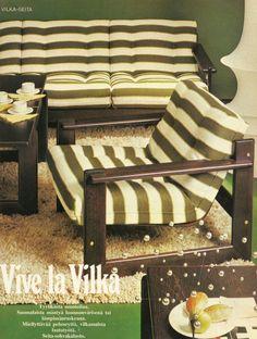 Finnish retro living room furniture sets: Seita by Vilke - 70-luvulta, päivää !