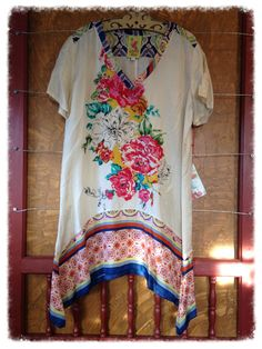 Johnny Was Collection silk tunic