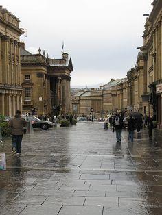 Grey Street,Newcastle upon Tyne, England. Newcastle Town, Newcastle England, Northern England, England Uk, Blaydon Races, Northumbria University, Places To Travel, Places To Visit, Visit Uk
