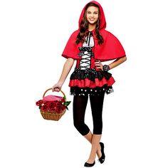 Costume Super Center Girls Red Riding Hood Halloween Costume - Teen One Size