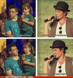10,000 cool points for Matt Smith