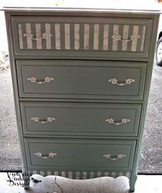 Victoria's Vintage Designs: Vintage Tall French Provincial Dresser