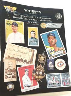 Baseball Auction Sothebys Catalog Vtg Rare Memorabilia Cards Uniforms March 1991