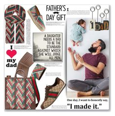 """""""#1 Dad"""" by mood-chic ❤ liked on Polyvore featuring Gucci, Balmain, men's fashion, menswear and fathersdaygiftguide"""