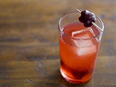 smashed cherry + whiskey cooler.