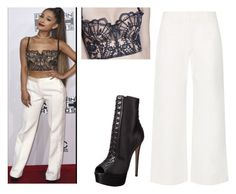 """""""Ariana Grande look😸"""" by rawaa12 ❤ liked on Polyvore featuring The Row and Ruthie Davis"""