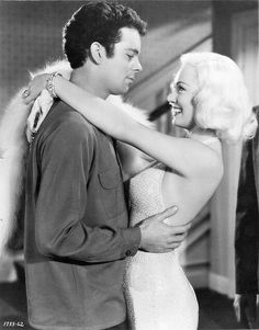 Mamie Van Doren with Russ Tamblyn, starring in High School Confidential. A film directed by Jack Arnold in Get premium, high resolution news photos at Getty Images Old Hollywood Glamour, Hollywood Stars, Classic Hollywood, 50s Actresses, Russ Tamblyn, Mamie Van Doren, Marvel Films, Film Stills, American Actress