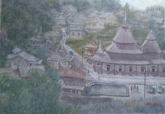 Pariangan village, West Sumatra,Indonesia (Donny Prawira n his bad watercolor arts)