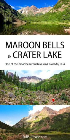 Maroon Bells and Crater Lake hike in Colorado USA Colorado Hiking, Colorado Usa, Crater Lake Hikes, Banff National Park, National Parks, Honey Moon, Family Adventure, Adventure Travel, Best Hikes
