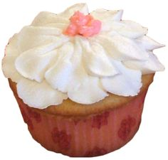 vanilla cupcaked decorated with white vanilla buttercream flower - cupcakes York PA