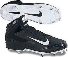 Nike Pro Mid Metal Cleat-Blk/Wht-13.5 (eBay Link)