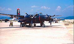 A Night attack Douglas B-26 Invader at its base during the Korean War.