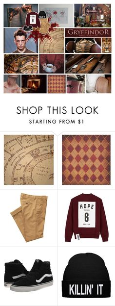 """""""gryffindor"""" by ivy-magazine ❤ liked on Polyvore featuring Gant Rugger, Studio Concrete, Vans, Ray-Ban and modern"""
