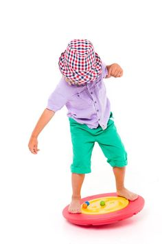 This fun balance board is a great way to build up core muscle strength and develop balance with the challenge of moving the ball around the maze.  Adults won't be able to resist the challenge either!  This is an essential item for children with disabilities or special needs as a way of making their home therapy so much more fun.  http://blossomforchildren.co.uk/toys-books/24-tai-chi-balance-board.html