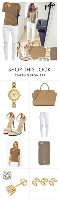 """""""Passion 4Fashion: Khaki"""" by shygurl1 ❤ liked on Polyvore featuring JBW, Michael Kors, FiveUnits, Elodie, Tory Burch and ASOS"""