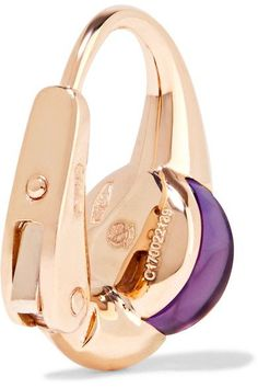 Pomellato - M'ama Non M'ama 18-karat Rose Gold Amethyst Earrings - one size