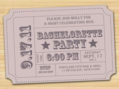 No color? Black/gray lettering? Bachelorette // Save the date // Wedding // by styledbykristen, $15.00