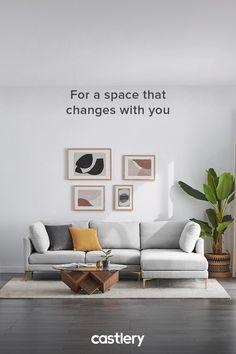 Decor Home Living Room, Living Room Decorations, Interior Design Living Room, Home And Living, Living Room Designs, Bedroom Decor, Piece A Vivre, 3 Shop, Sectional Sofas
