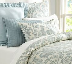 Arista Palampore Duvet Cover & Sham - Blue #potterybarn This is manly, right???