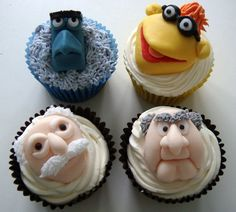 Waldorf and Statler, Sam and Scooter from the Muppets by Cupcake Occasions