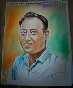 Portrait on water colour