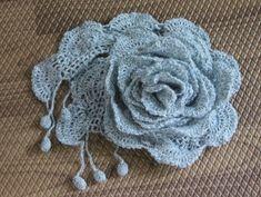 러플러플 머플러 : 네이버 블로그 Crochet Trim, Crochet Scarves, Crochet Flowers, Diy And Crafts, Crochet Necklace, Knitting, Womens Fashion, How To Wear, Dresses