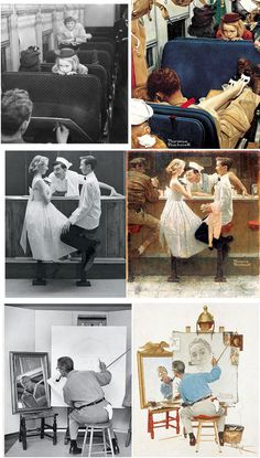 NORMAN ROCKWELL - Photographing Models for Reference