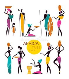 African Drawings, African Art Paintings, Glass Painting Patterns, Fabric Painting, African Children, African Men, Color Palette Challenge, Art Beat, African Culture