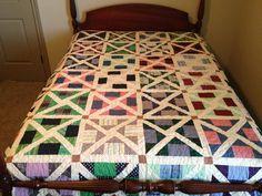 Multi-color Queen Sampler Quilt