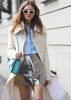 crushing on this white duster #theblondesalad Chiara Ferragni #chic #streetstyle