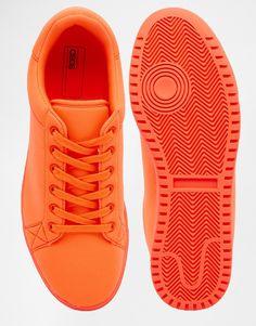 Immagine 3 di ASOS - Scarpe da ginnastica in neoprene arancione