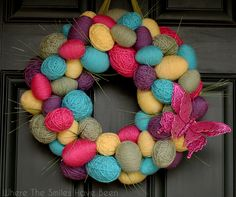 Get in the mood for spring with this Easter egg wreath by @wtshb
